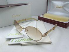 2011 new Cartier 7550178 yellow Buffalo Sunglasses in gold