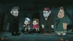 Gravity Falls: Ford, Dipper, Mabel, Stan & Soos