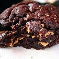Levain Bakery Dark Chocolate Peanut Butter Chip Cookie by Cassandra Orsini