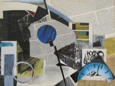 Ein kurzes Stück Zeit II - (c) Elisabeth Rütsche Collage Kunst, Collagen, Art, Painting Abstract