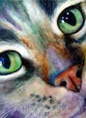 Toonces/ Watercolor Cats by Mary Gibbs Art.Check her out on search. She does beautiful and varied work.