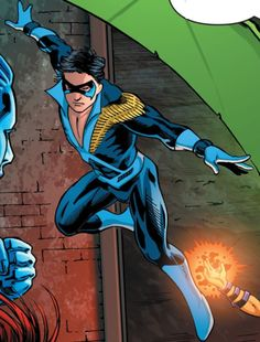 """NIghtwing """"Discowing"""" in Convergence: New Teen Titans 01"""