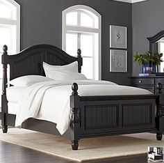 The Furniture Black Rubbed Finished Bedroom Set With Panel Bed Southern Cachet Collection By Liberty Furniture Furniture Pinterest Furniture