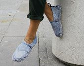 ESPADRILLES JEANS slippers made to order made by SNAKESninja