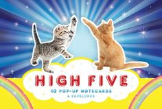 High Five: 10 Pop-Up Notecard Set / Porter Square Books / Cat Love