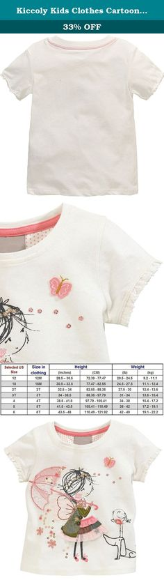 Kiccoly Kids Clothes Cartoon Girl Pattern Girls T-Shirt Children T Shirts Baby Girl Clothes Learance Summer Age 4T Years Outfits On Sale White. KICCOLY&KIDS clothes front and back is 100% combed cotton fabric, absorbent, breathable, soft and comfortable fabric feel good Environmental Graffiti printing or exquisite embroidery patterns; printing products color fastness of three or more; not easy to fade; 100% combed cotton short-sleeved T-shirt spring and summer casual shirt, absorbent...