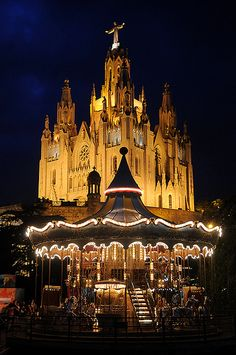 Templo Expiatorio del Sagrado Corazón Tibidabo Barcelona  Catalonia