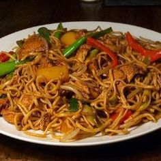 Chicken Chow Mein - might change out some of these vegetables for better ones! :)
