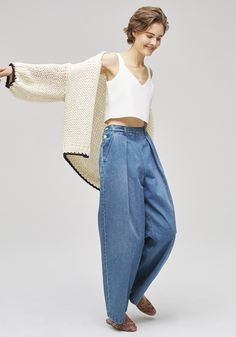 WOMEN'S STYLE   トゥモローランド 公式通販   FeelTHETOMORROW_0301 Denim Fashion, Fashion Photo, Love Fashion, Fashion Outfits, Womens Fashion, Fashion Design, Look Jean, Estilo Jeans, Fashion 2020