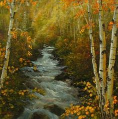 """Spirit of a Waterfall SOLD"" - Originals - All Artwork | Katherine Mcneill"