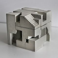 Architectural Drawings This series of concrete sculptures by Canadian architect and sculptor, David Umemoto, draws parallels with the fundamental attributes associated with Brutalist architecture. His work has been described. Beton Design, Concrete Design, Concrete Art, Concrete Architecture, Architecture Design, Minecraft Architecture, Lego Creative, Architectural Sculpture, Architectural Photography