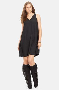 Lauren Ralph Lauren Sleeveless V-Neck Shift Dress available at #Nordstrom
