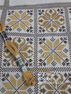 Cross Stitch Gallery, Cross Stitch Rose, Cross Stitch Designs, Cross Stitch Patterns, Pillow Embroidery, Cross Stitch Embroidery, Hand Embroidery Design Patterns, Sewing Patterns, Cross Stitch Geometric