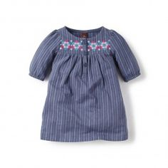 Blue Cochabamba Henley Dress for Baby Girls | Tea Collection