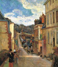 La calle Jouvenet en Rouen, Paul Gauguin - Madrid, Museo Thyssen Bornemisza