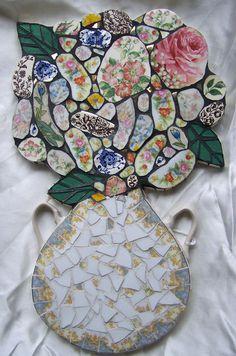 Bouquet of Flowers Vintage China Pique Assiette by HeatherMBC, $175.00