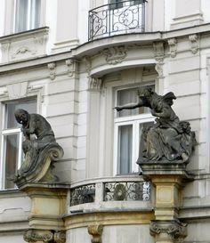 Detail balcony, Prague