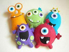 Plush toys Felt toys Monster Monster Friends by Feltnjoy on Etsy, $15.00