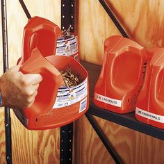 Being organised saves time when looking for hardware. Recycle large plastic containers like laundry detergent bottles, cutting out the tops to create an open storage trug with a handle and labeling them clearly. | Handyman Magazine |