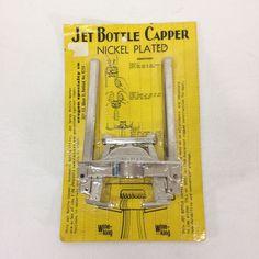 JET BOTTLE CAPPER Beer Wine USA MADE Portland Oregon Spec Co New Old Stock #JET