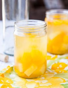 Peach Mango Pineapple White Sangria - Takes minutes to make  everyone loves it! A lighter  fresher alternative to red sangria! Make it for your next party!  Sounds perfect for me!
