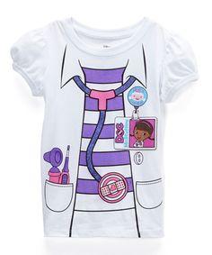 White Doc McStuffins Dress-Up Tee - Toddler