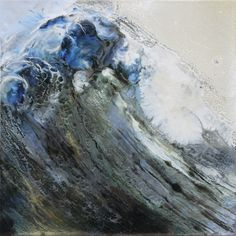Translucent Paint Layers Capture the Energy of Ocean Waves by Lia Melia
