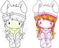 C.C. Designs Swiss Pixie Bunny Lucy Rubber Stamp