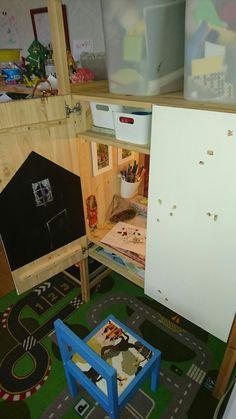 Kids room pyssel skåp Ikea Ivar shelf