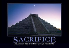 Sacrifice (Temple) Demotivator