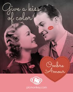 Give a kiss of color with our Ombre Amour photo effect