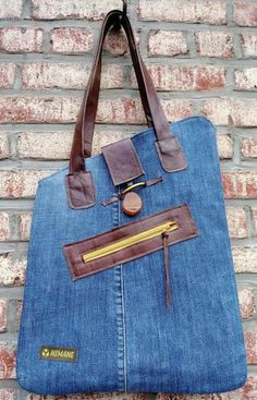 Deana Jeans bag denim bag jeans tote bag canvas bag