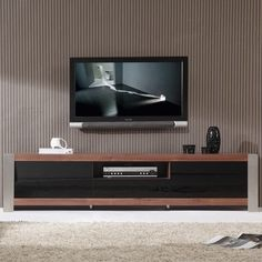 """Share & Save $5 Off Any Order Over $99. (excludes a few products) Coordinator Series 79"""" Modern TV Stand in Light Walnut & Stainless Steel #dynamichome"""
