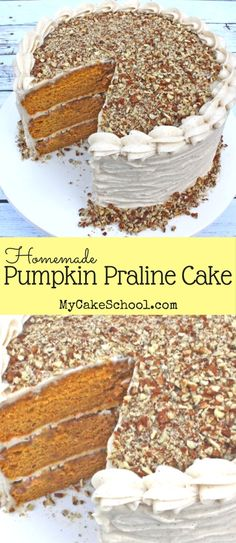 SO good! This Pumpkin Praline Cake is a flavorful blend of pumpkin, spices, and fantastic praline topping! Perfect for fall and Thanksgiving gatherings!