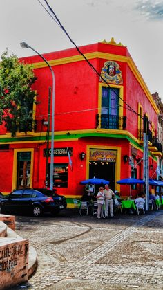 La Piccola Italia (pizza, café), barrio de La Boca, BsAs, Argentina