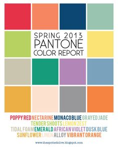 the life and designs of the spotted olive™: {color trends} the 2013 pantone fashion color report is here!