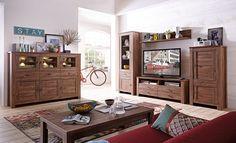 Wohnwand Mit Highboard Akazie Dunkel Woody 22-00679 Holz modern Jetzt bestellen unter: https://moebel.ladendirekt.de/wohnzimmer/schraenke/wohnwaende/?uid=902fd2a6-7b73-5381-893d-bafc69e6b00d&utm_source=pinterest&utm_medium=pin&utm_campaign=boards #schraenke #wohnzimmer #wohnwaende