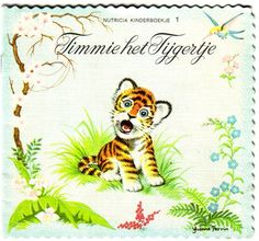 Timmie het tijgertje.  Vanaf 1963 tot ongeveer 1965 bracht Nutricia een leuke serie reclame boekjes uit. Deze kinderboekjes konden met spaarpunten die op de flessen koffiemelk van Nutricia zaten bijeen gespaard worden. Ik heb ze nog!