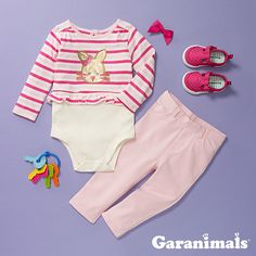 f5571f792887 garanimals. Newborn GirlsJeggingsBodysuitsPeplumMake ...