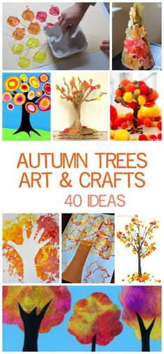 40 Fantastic Autumn Tree Art and Craft Ideas for Children - painting - printing - building - walking - sticking and more!