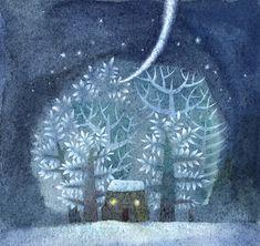 "Violeta Dabija - illustration for the Russian tale ""Twelve Months"""