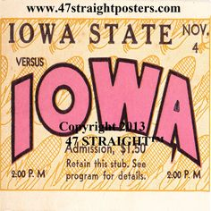 Iowa Hawkeyes Father's Day Gifts from 47 STRAIGHT.™ Iowa Hawkeyes gifts made from authentic vintage Iowa Hawkeye football tickets. #47straight Father's Day Gifts for Iowa Hawkeyes fans. College football gifts. Father's Day Gifts for football fans.