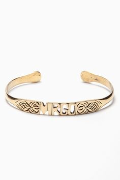 Virgo bangle. Get in depth info on Virgo personality and traits at http://www.examiner.com/article/the-virgo-sign-virgo-traits-personality-and-characteristics