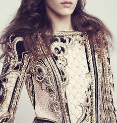 Embellished jacket.