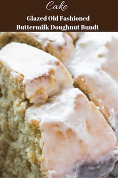 Glazed Old Fashioned Buttermilk Doughnut Bundt Cake This cake Recipes is the trully yummy Delicious Cake Recipes, Yummy Cakes, Dessert Recipes, Yummy Food, Cake Pops, Cake Mix Cookies, Cupcakes, Glaze For Cake, Salty Cake