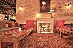 the stache fireplace  #ftlauderdale #speakeasy #drinkingden #1920s #cocktail #craftcocktail #mixology #stache #barstache #vip #lounge #americantable #banksy #fireplace www.barstache.com