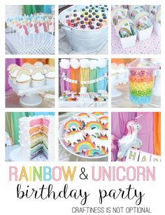 Unicorn and rainbow birthday party