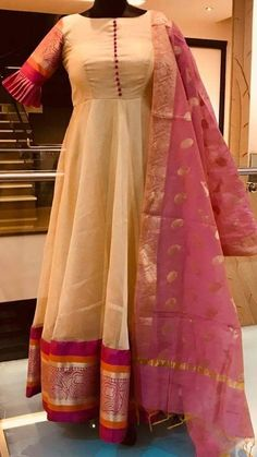 Indian gowns dresses - 24 Comfy Outfits For Your Wardrobe This Winter Long Dress Design, Dress Neck Designs, Saree Gown, Anarkali Dress, Long Anarkali, Punjabi Dress, Anarkali Suits, Indian Designer Outfits, Designer Dresses