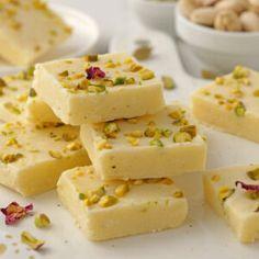 Instant Pot Milk Burfi (Milk Fudge) Kalakand Recipe, Burfi Recipe, My Recipes, Real Food Recipes, Cooking Recipes, Yummy Food, Dinner Recipes, Coconut Flour Biscuits, Indian Dessert Recipes