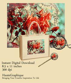 Printable Art Instant Digital Download  Orange by HAUTEGRAPHIQUE, $5.00